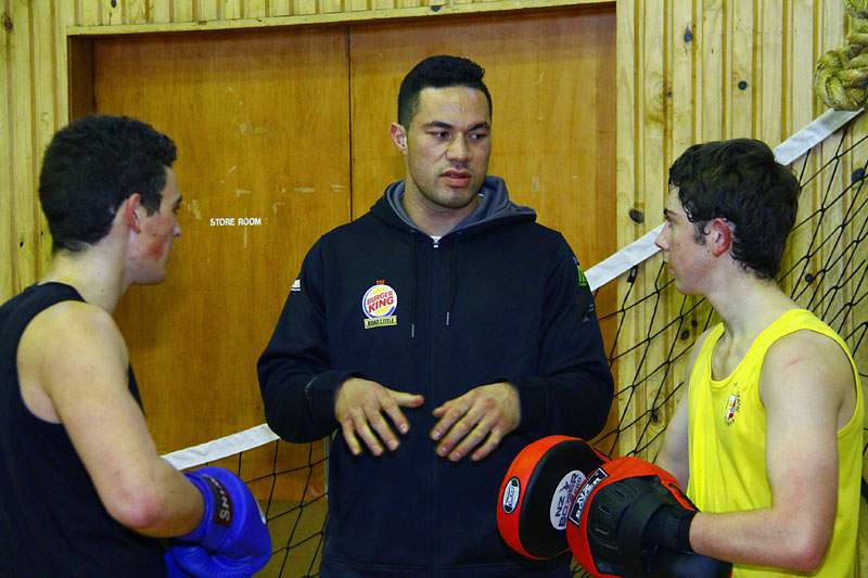 Boxer Joseph Parker visit to school  Image by Gary Rodgers / Magnum Images