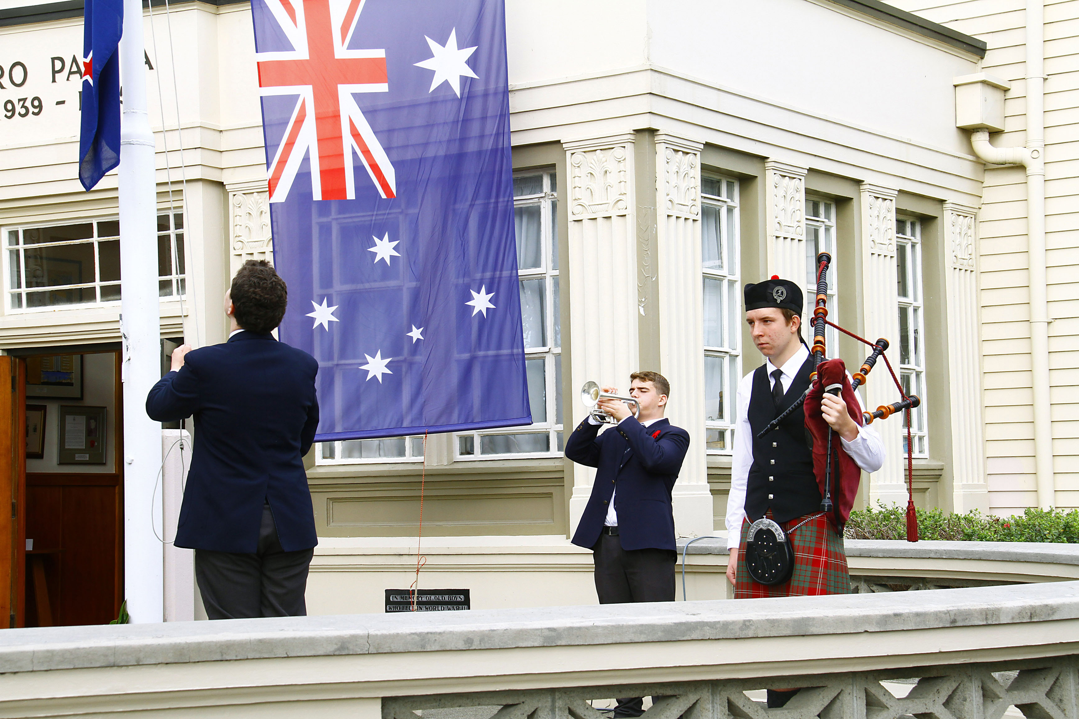 PNBHS 2019 School ANZAC Service Image by Gary Rodgers / Magnum Images  www.magnum-images.co.nz
