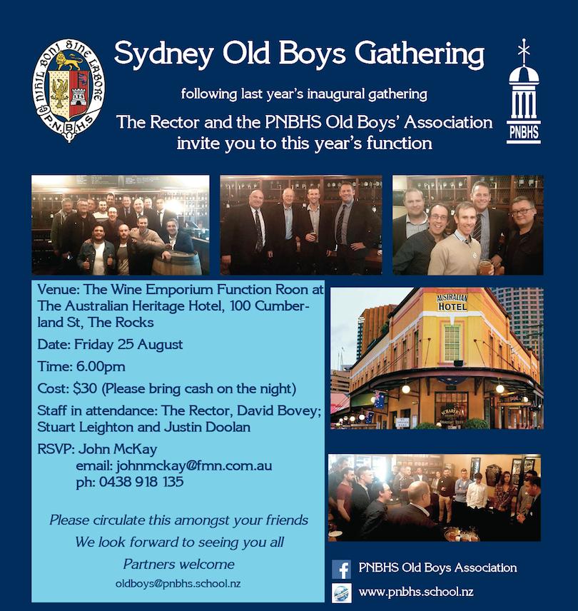 Sydney Old Boys Function