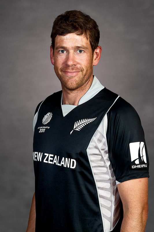NAGPUR, INDIA - FEBRUARY 10:  Jacob Oram of New Zealand poses for a portrait during the New Zealand Team Portrait Session on February 10, 2011 in Nagpur, India.  (Photo by Ritam Banerjee/Getty Images)